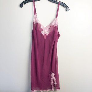 Victoria's Secret Sheer Lace Trim Slip Slip